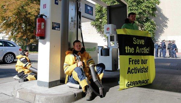 Газпромовские заправки в Германии пикетируются «зелёными»