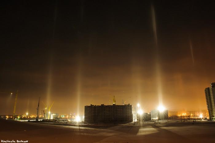 """Редкое атмосферное явление – """"световые столбы"""" – можно будет увидеть над Москвой ночью"""