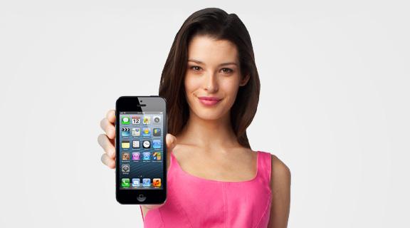Продам новый телефон iphone 5 16 gb черный/белый, 1 год гарантии