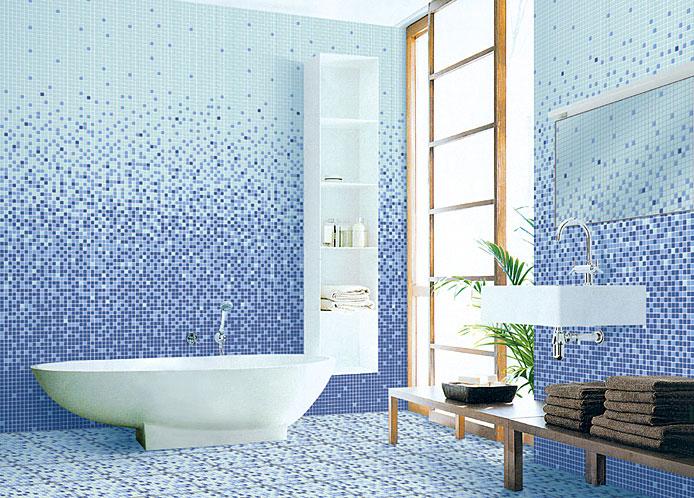 Плитка под мозаику для ванной комнаты
