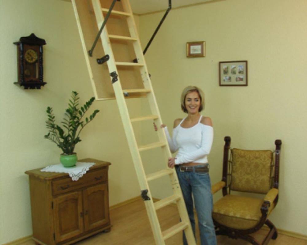 Чердачные лестницы из дерева – выгодное и практичное приобретение