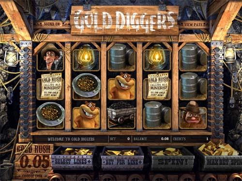 На время стать азартным золотоискателем предлагает игровой автомат Gold Diggers