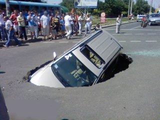 Санкт Петербург: автомобили ушли под землю