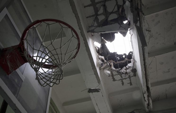 по факту обстрела школы в Донецке