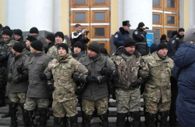 Активисты штурмовали здание областного совета Винницы