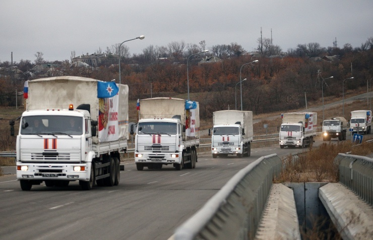 Колонна МЧС России доставила в Донецк и Луганск свыше 1,4 тыс. тонн гуманитарной помощи