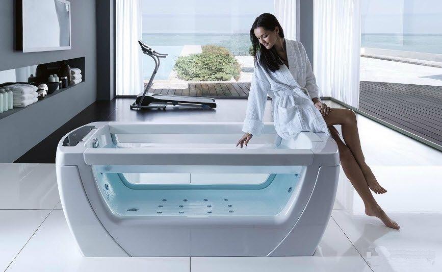Акриловые ванны с гидромассажем