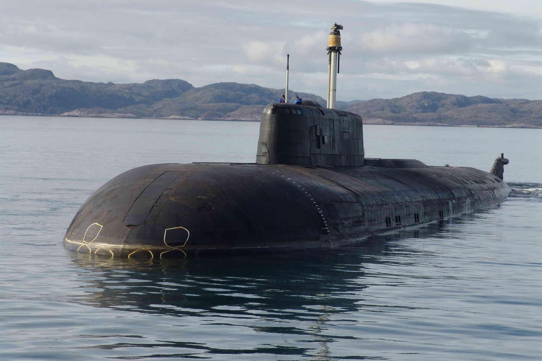 док с горящей атомной подводной лодкой