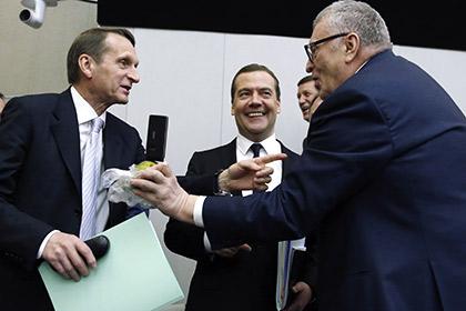Жириновский настойчиво предлагал Медведеву съесть грушу из Польши