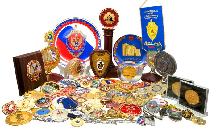 Металлические значки и медали на заказ