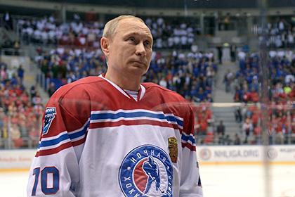 Путин играет в хоккей. Российскому президенту исполнилось 63