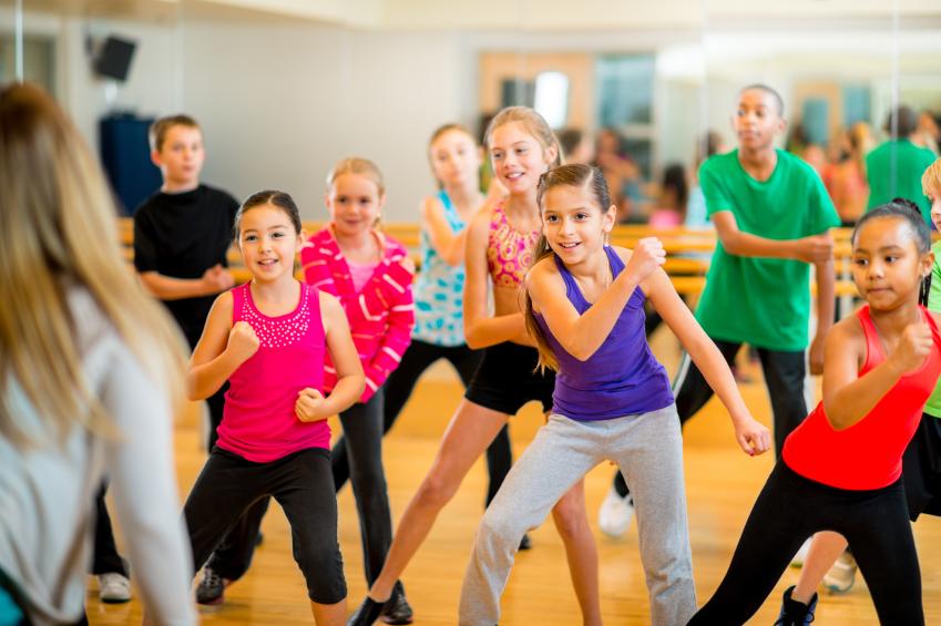 Спортивный клуб «Олимпия» дает уроки детского фитнеса