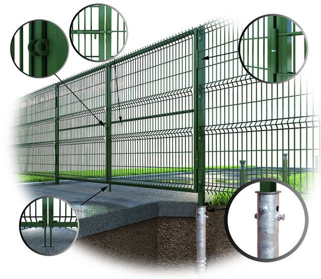 Ворота и калитки из 3D Gitter сетки