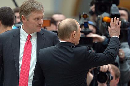 """Песков считает """"спортивный стандарт"""" Путина показательным"""