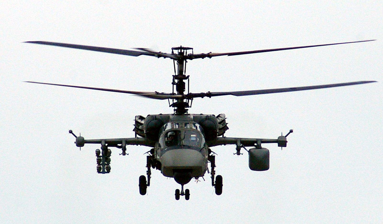 Российский ударный вертолет развлекал посетителей сирийского пляжа