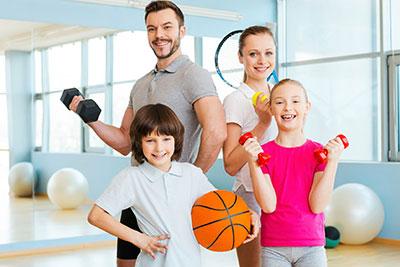 Фитнес для всей семьи!