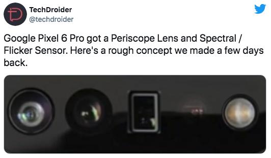 В Сеть утекли концептуальные рендеры камеры нового Google Pixel 6