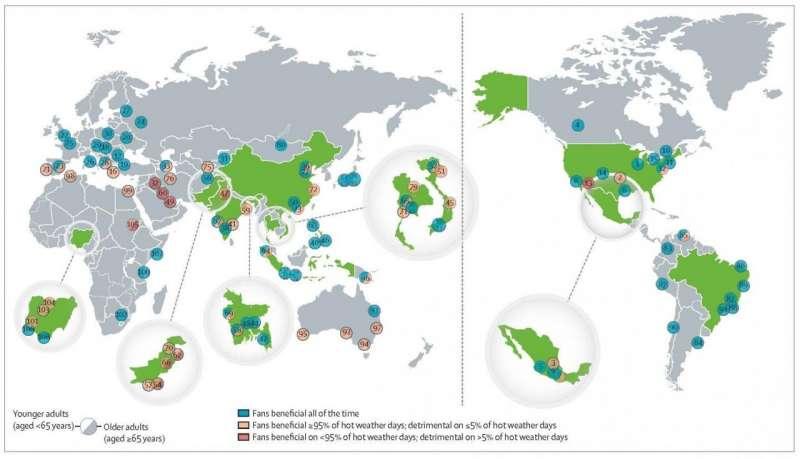 Кондиционирование воздуха не требуется в большинстве случаев глобальной жары