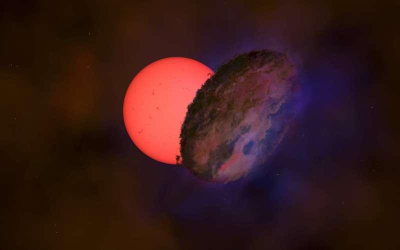 """Астрономы заметили """"мигающего гиганта"""" недалеко от центра галактики"""