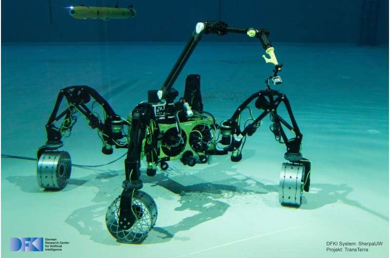 Подводному роботу не понадобится помощь на дне океана