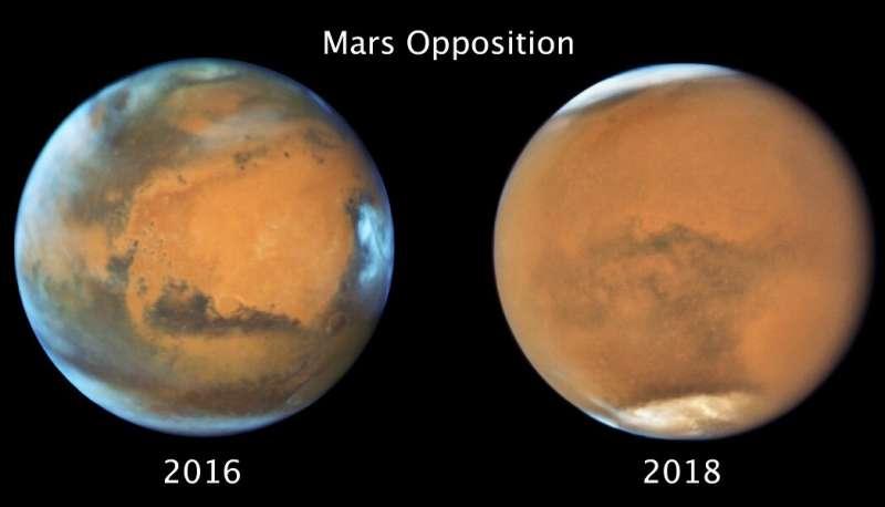 Марсианская глобальная пыльная буря закончилась зимой на юге