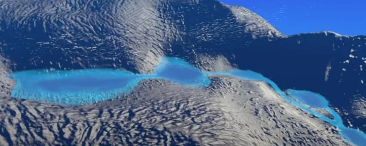 Миссия НАСА обнаружила скрытые под льдом Антарктиды озера с талой водой
