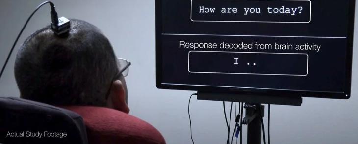 Мозговые волны парализованного человека преобразованы в речь благодаря первому в мире прорыву