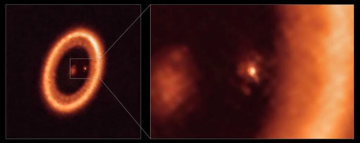 Впервые астрономы стали свидетелями диска, образующего луну вокруг экзопланеты